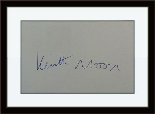 Rare Framed Keith Moon The Who Authentic Autograph with COA
