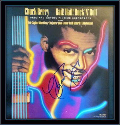 Framed Chuck Berry LP Autograph with COA