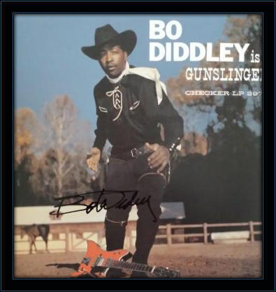 Framed Bo Diddley LP Autograph with COA