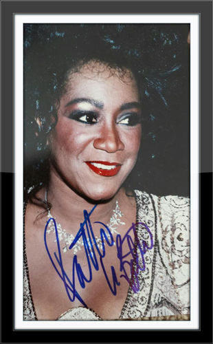 Framed Patti Labelle Authentic Autograph with COA