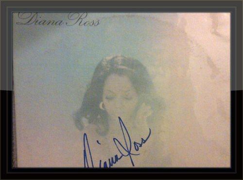 Diana Ross Touch Me In The Morning Authentic Album Autograph with COA
