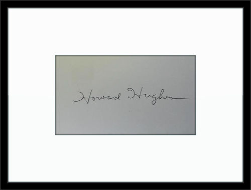 Framed Howard Hughes Autograph with COA