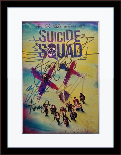 Framed Suicide Squad Cast Authentic Autograph with COA
