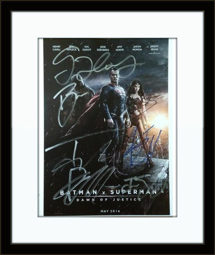 Framed Batman Superman Dawn of Justice Cast Authentic Autograph with COA