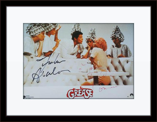 Framed Frankie Avalon and Didi Conn Grease Authentic Autograph with COA
