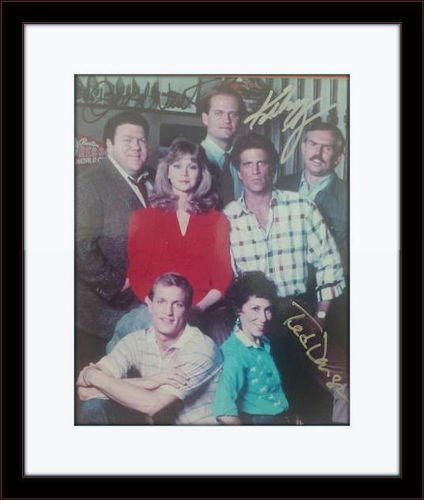 Framed Cheers TV Show Cast Members Photo Autograph with COA