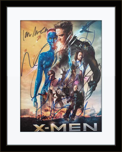 Framed X-Men Days Of Future Past Cast Authentic Autograph with COA