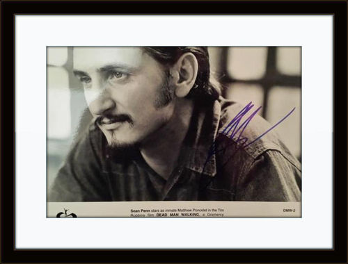 Framed Sean Penn Dead Man Walking Authentic Autograph with COA