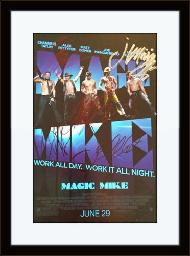 Framed Magic Mike Cast Authentic Autograph with COA