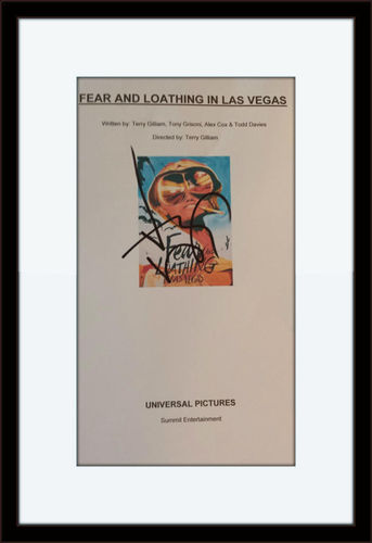 Framed Johnny Depp Authentic Autograph with COA