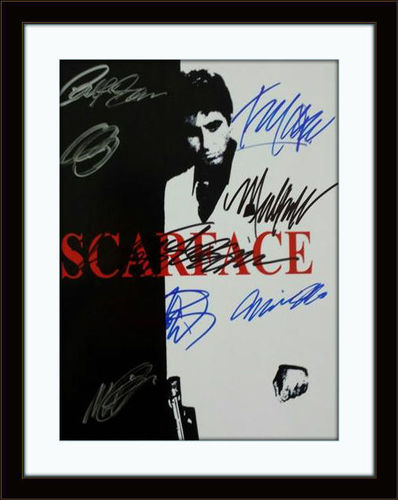Framed Cast of Scarface Photo Autograph with COA