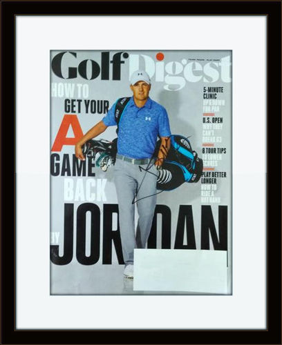 Framed Jordan Spieth Autographed Magazine Cover with COA