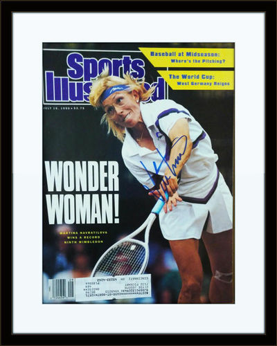 Framed Martina Navratilova Autographed Magazine Cover with COA
