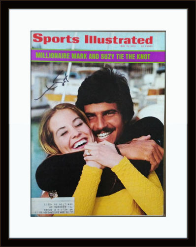 Framed Mark Spitz Olympic Swimmer Autographed Magazine Cover with COA