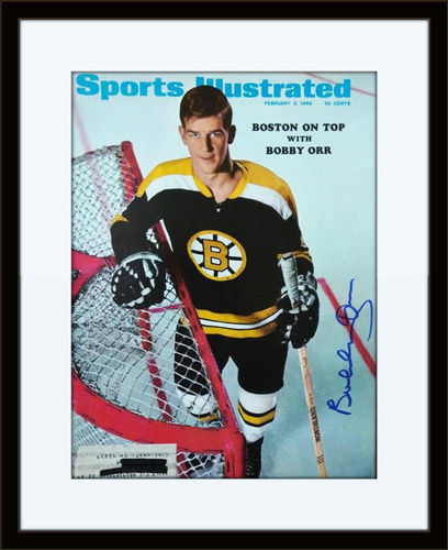 Framed Bobby Orr Autographed Magazine Cover with COA