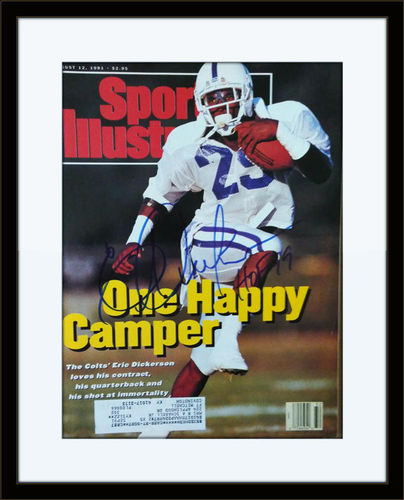 Framed Eric Dickerson Autographed Magazine Cover with COA