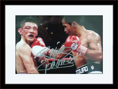 Framed Manny Pacquiao Autograph with COA