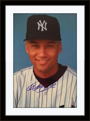Framed Derek Jeter Yankees Autograph with COA