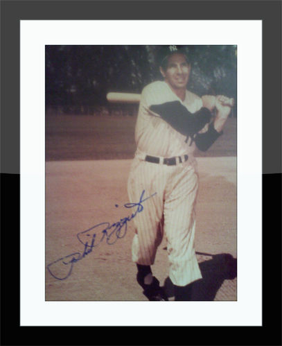 Framed Phil Rizzuto Authentic Autograph with COA