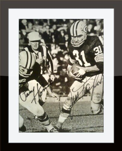 Framed Packers Jim Taylor & Paul Hornung On 8 x 10 with COA