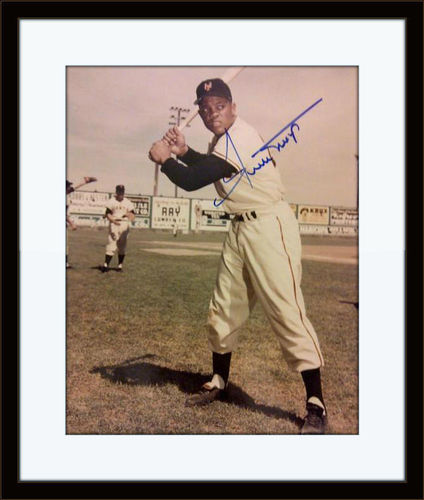 Framed Willie Mays Authentic Autograph with COA