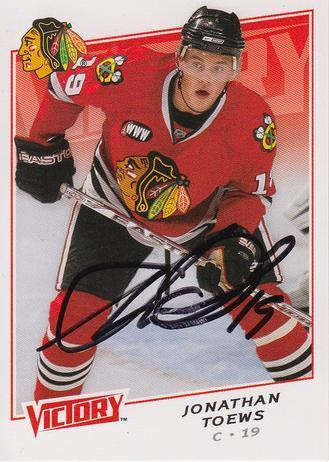 Jonathan Toews Blackhawks Autograph On Card with COA