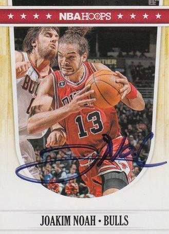 Joakim Noah Bulls Autograph On Card with COA