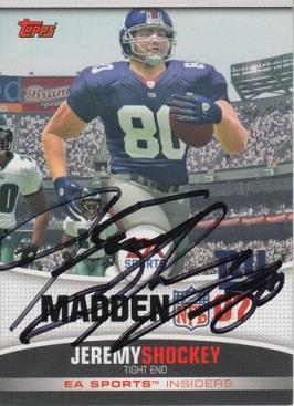 Jeremy Shockey Autograph On Card with COA