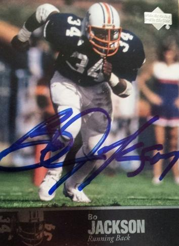 Bo Jackson Autograph on Sports Card with COA