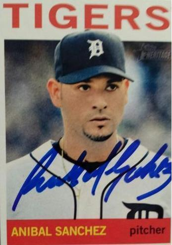 Anibal Sanchez Autograph On Card with COA