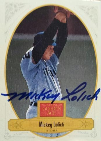Mickey Lolich Autograph On Card with COA