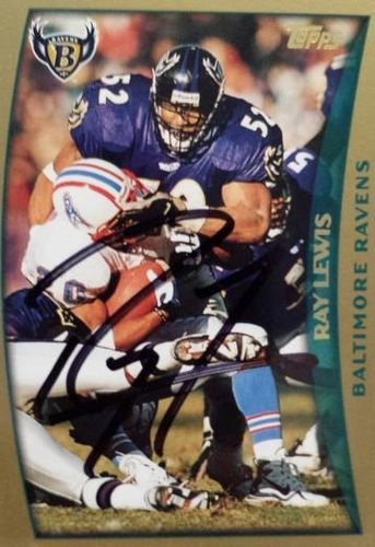 Ray Lewis Autograph On Card with COA