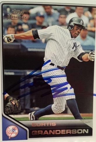Curtis Granderson Autograph On Card with COA