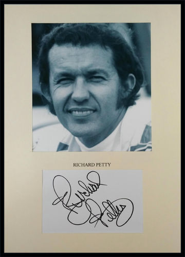 Framed Richard Petty Autograph on 8 x 10 Photo with COA