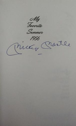Mickey Mantle Autograph Book with COA