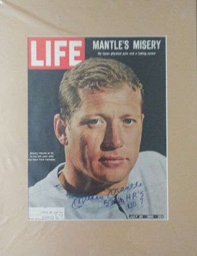 Rare Mickey Mantle Authentic Autograph with COA