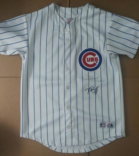 Kris Bryant Ernie Banks Youth Autographed Jersey with COA