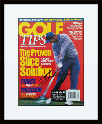 Framed Tiger Woods Autographed Magazine Cover with COA