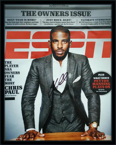 Framed Chris Paul Autographed Magazine Cover with COA