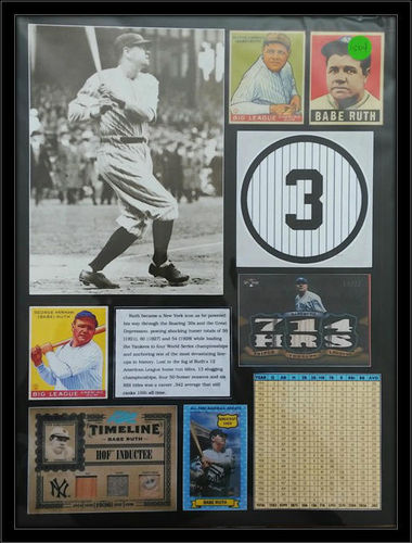 Babe Ruth History Collage COA