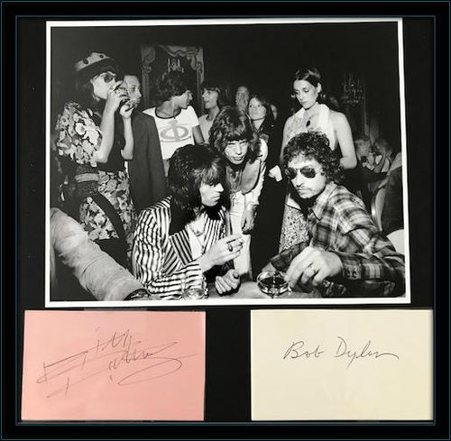Bob Dylan Keith Richards Autograph with COA