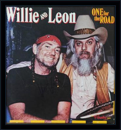 Willie Nelson Leon Russell Authentic Album Autograph with COA