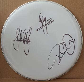 Led Zeppelin Page Plant and Jones Autograph Drum Head with COA