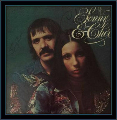 Framed Sonny and Cher LP Autograph with COA