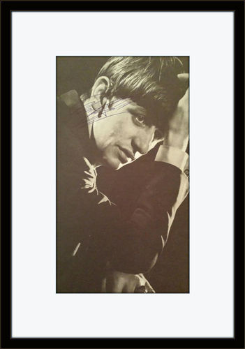 Framed Ringo Starr Magazine Photo Autograph with COA