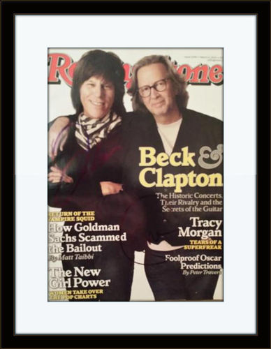 Framed Eric Clapton Jeff Beck Autograph with COA