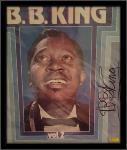 Framed B.B King LP Autograph with COA