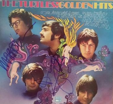 The Turtles Howard Kaylan and Mark Volman Authentic autographs on LP Cover Rare with COA