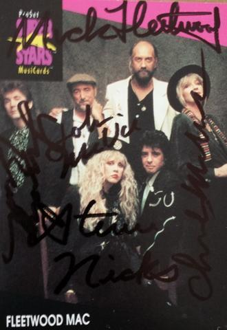 Framed Fleetwood Mac Autograph with COA
