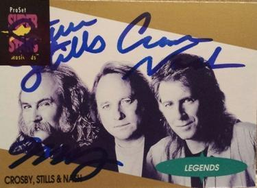 Framed Crosby Stills Nash Autograph with COA